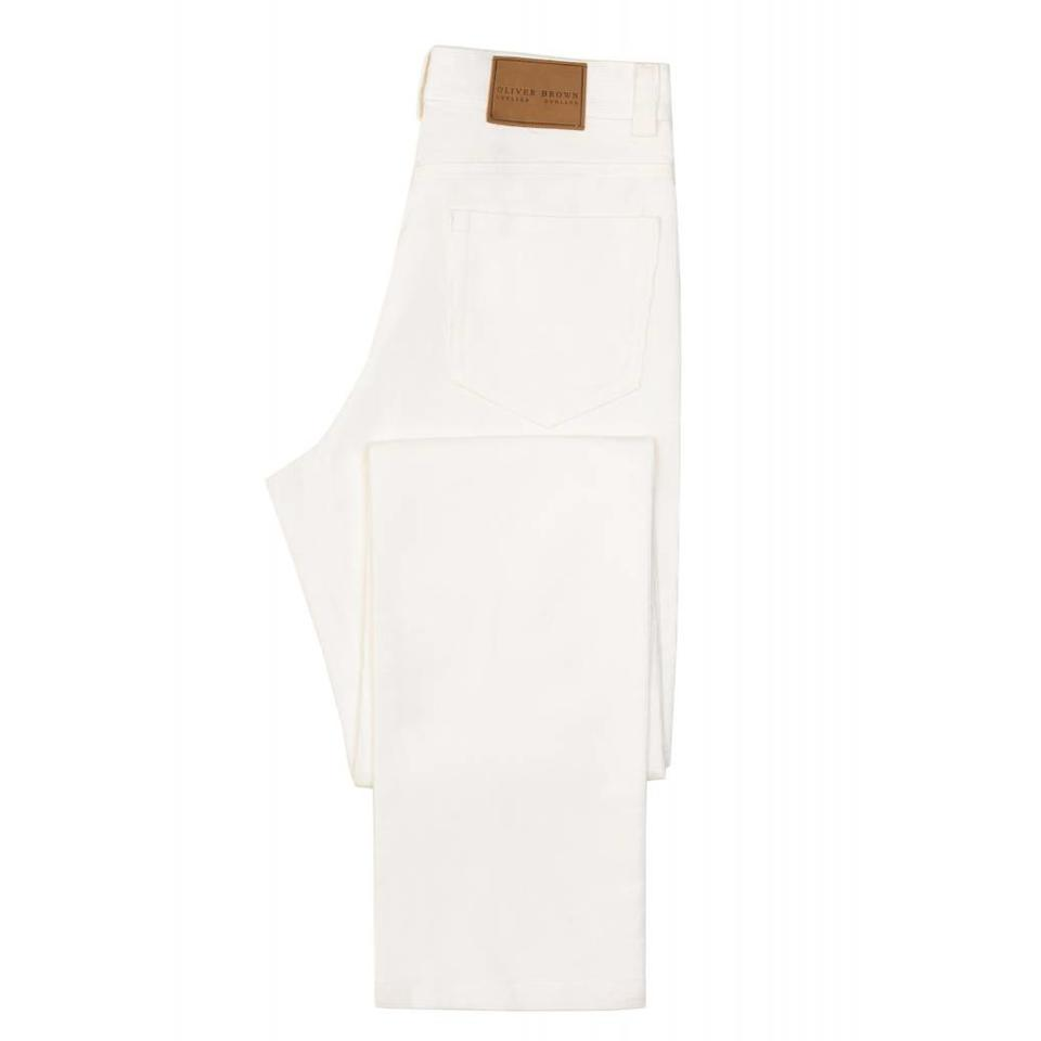 Needlecord Jeans - White