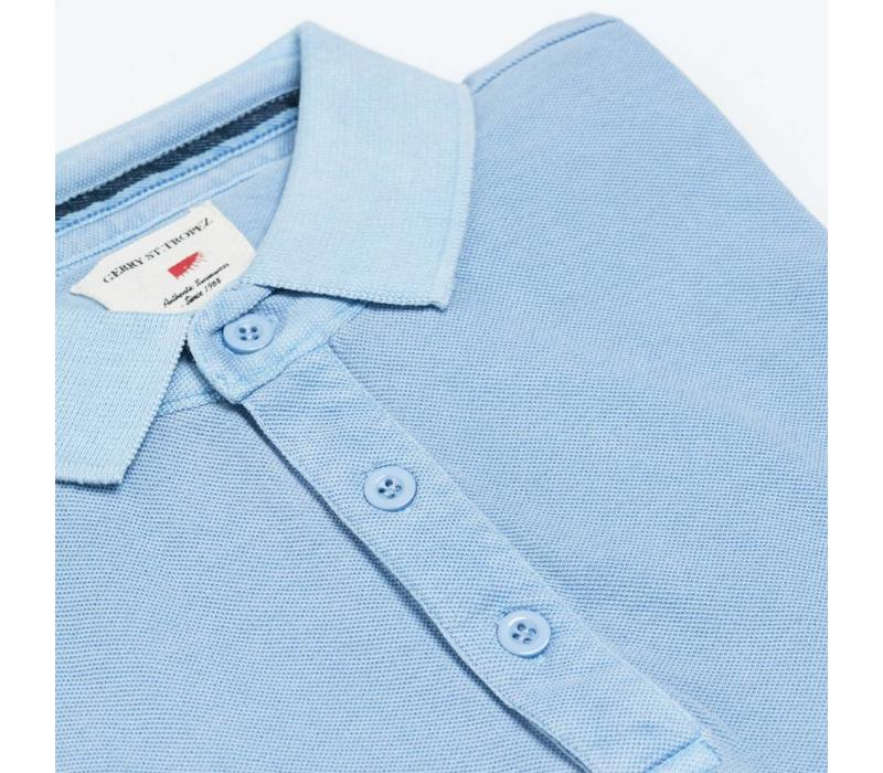 Polo Shirt, Pique - Pale Blue