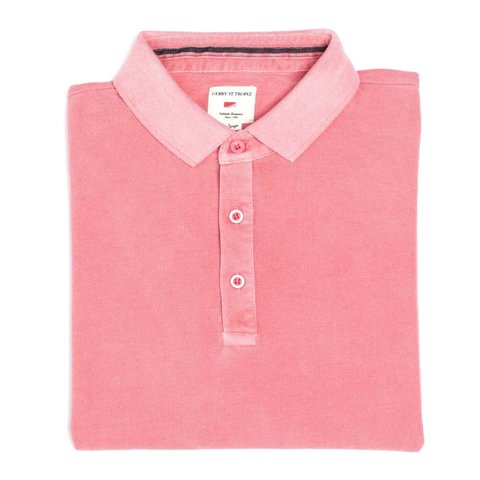 Polo Shirt, Pique - Coral