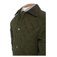 Quilted Moleskin Jackets - Olive Green