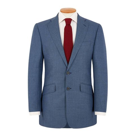 Eaton Suit - Royal Blue Birdseye