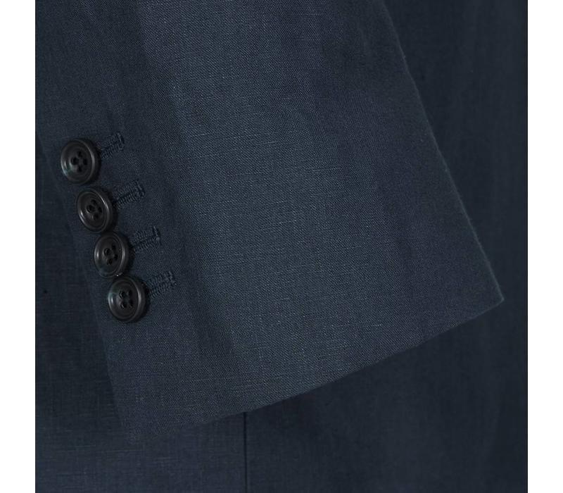 Loden Nehru Jacket - Navy