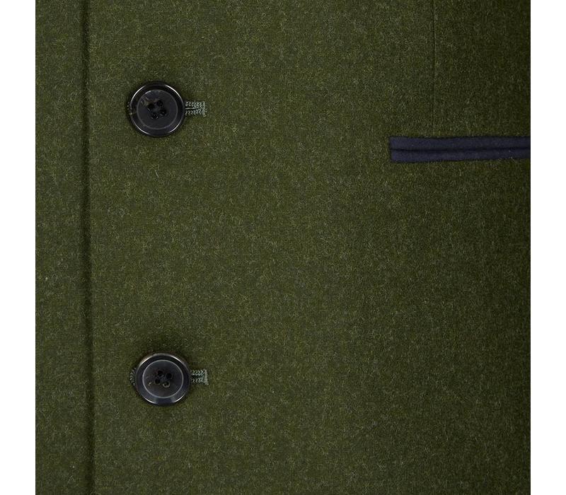 Loden Nehru Jacket - Green