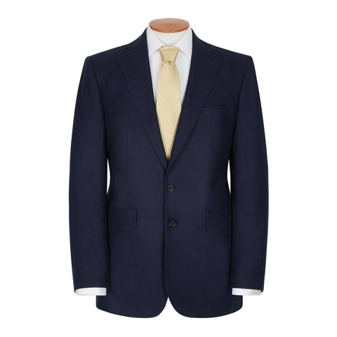 Loden Jacket with Elbow Patches - Navy