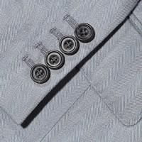 Eaton Jacket - Pale Blue Herringbone Linen