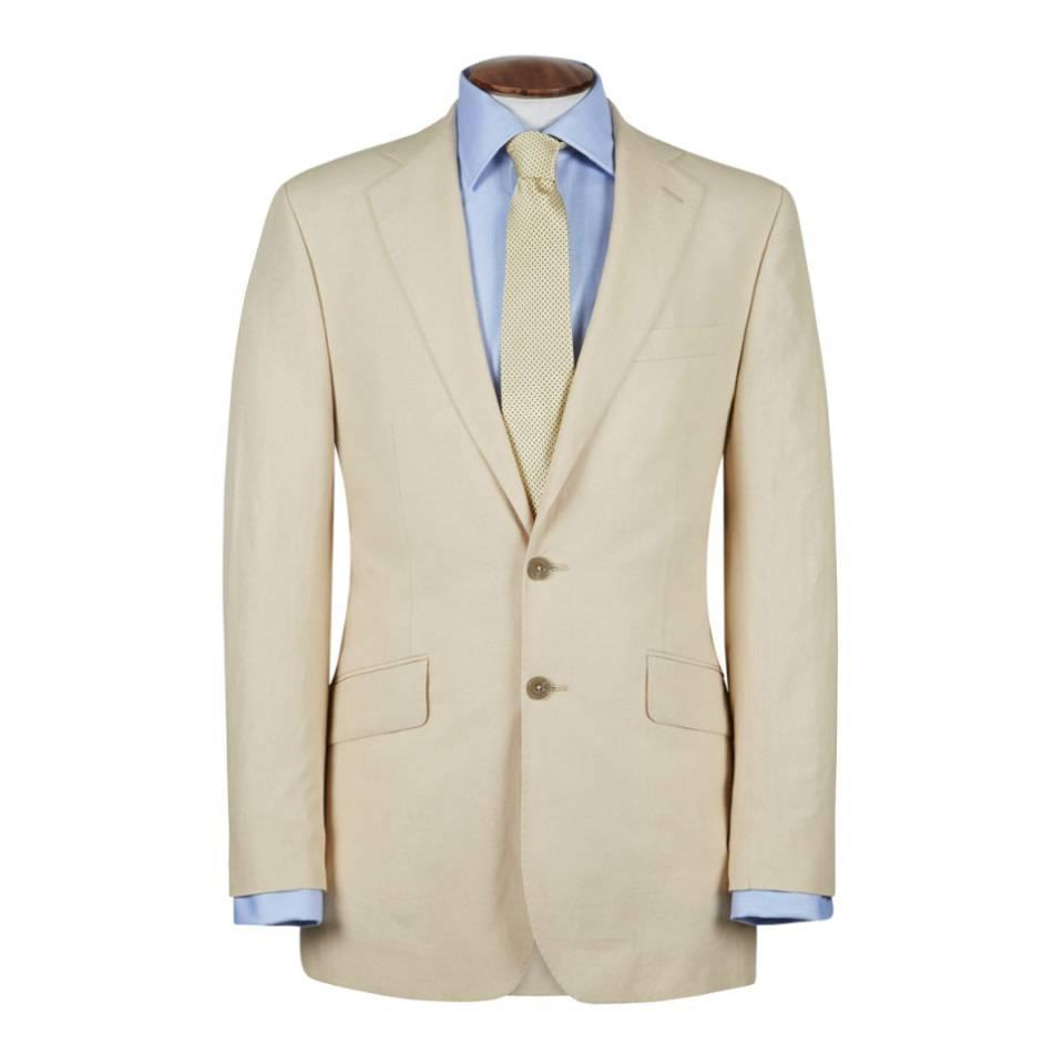 Single Breasted Linen Jacket - Cream