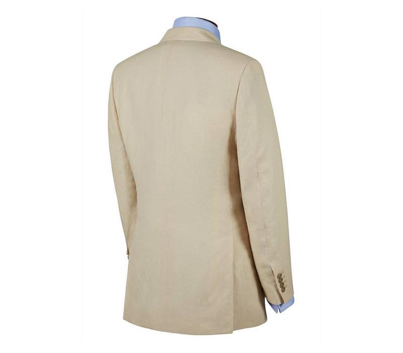 Single Breasted Linen Jacket - Cream