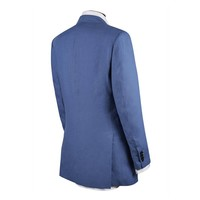 Single Breasted Linen Jacket - Summer Blue