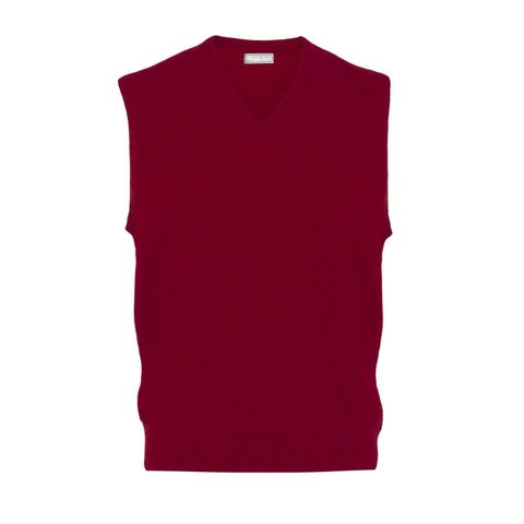 Sleeveless Lambswool Jumpers - Bordeaux