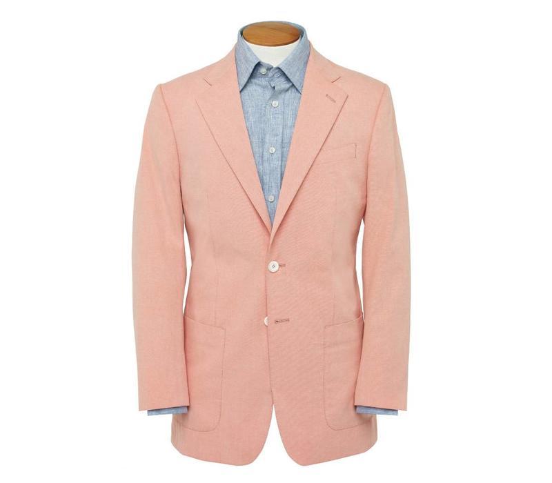 Un-lined Cotton Jacket - Pale Red