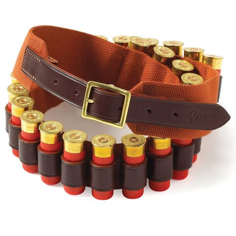 Web Cartridge Belt, 12 Bore - Tan
