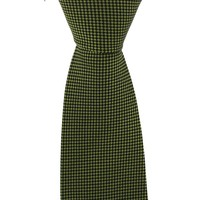 Woven Silk Tie, Checked - Green