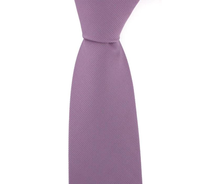 Woven Silk Tie, Plain - Lilac