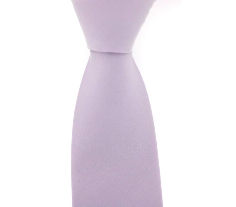 Woven Silk Tie, Plain - Pale Lilac