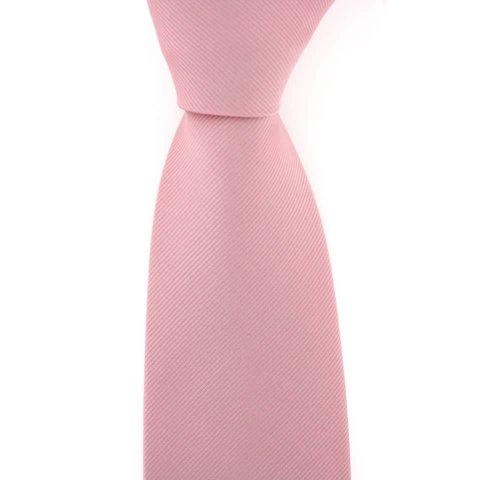 Woven Silk Tie, Herringbone - Pink