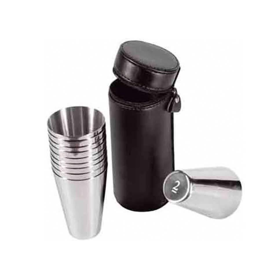 2 oz Stainless Steel Travel Cups