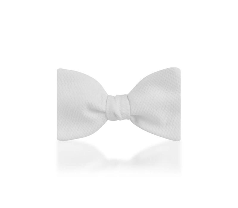 Marcella Self Tie Bow Tie - White