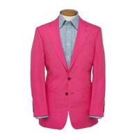 Single Breasted Linen Jacket - Fuchsia Pink