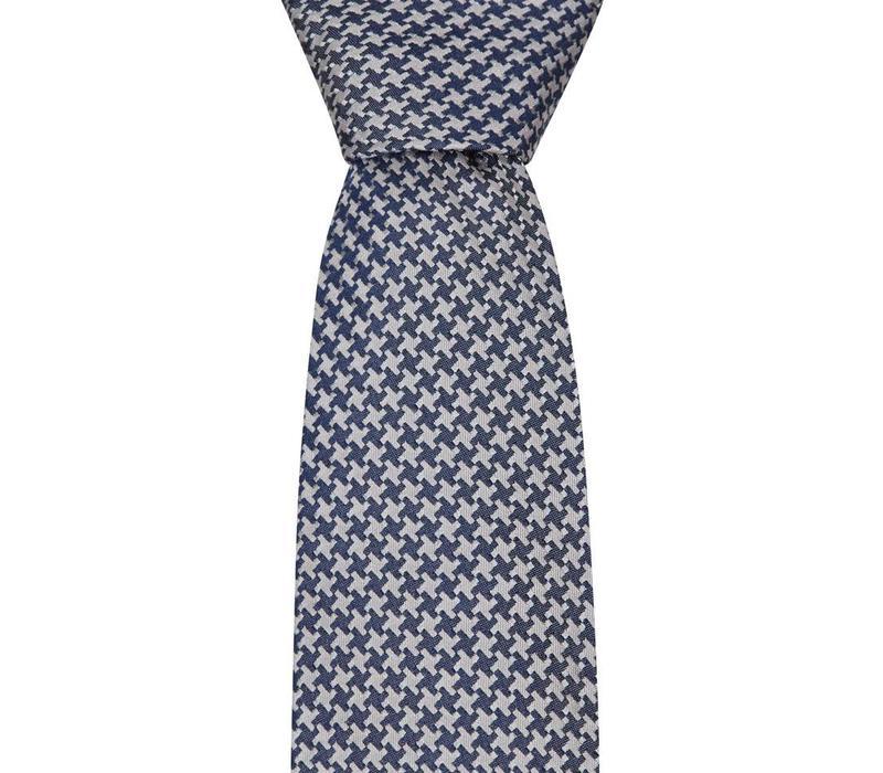 Woven Silk Tie, Houndstooth - Grey