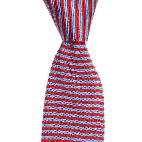 Providence Silk Knitted Tie - Red