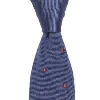 Maverick Silk Knitted Tie - Navy