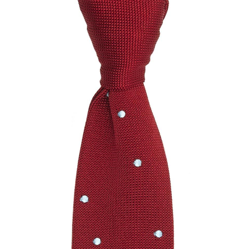 Maverick Silk Knitted Tie - Red