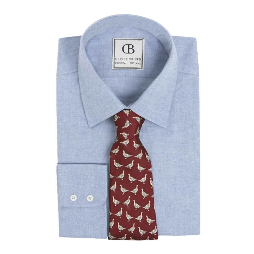 Oxford Cotton Shirt, Slim Fit - Blue