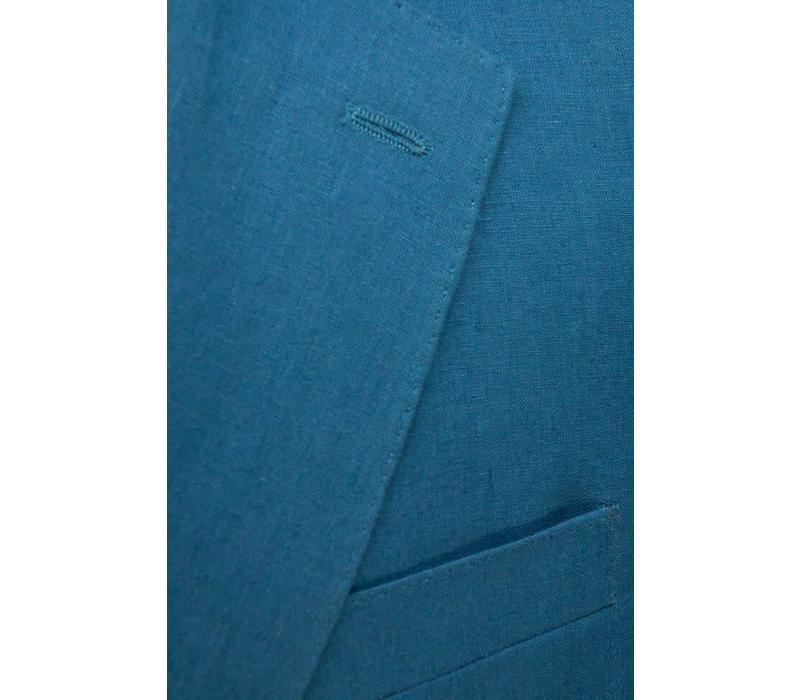 Ebury Jacket - Metal Blue Linen