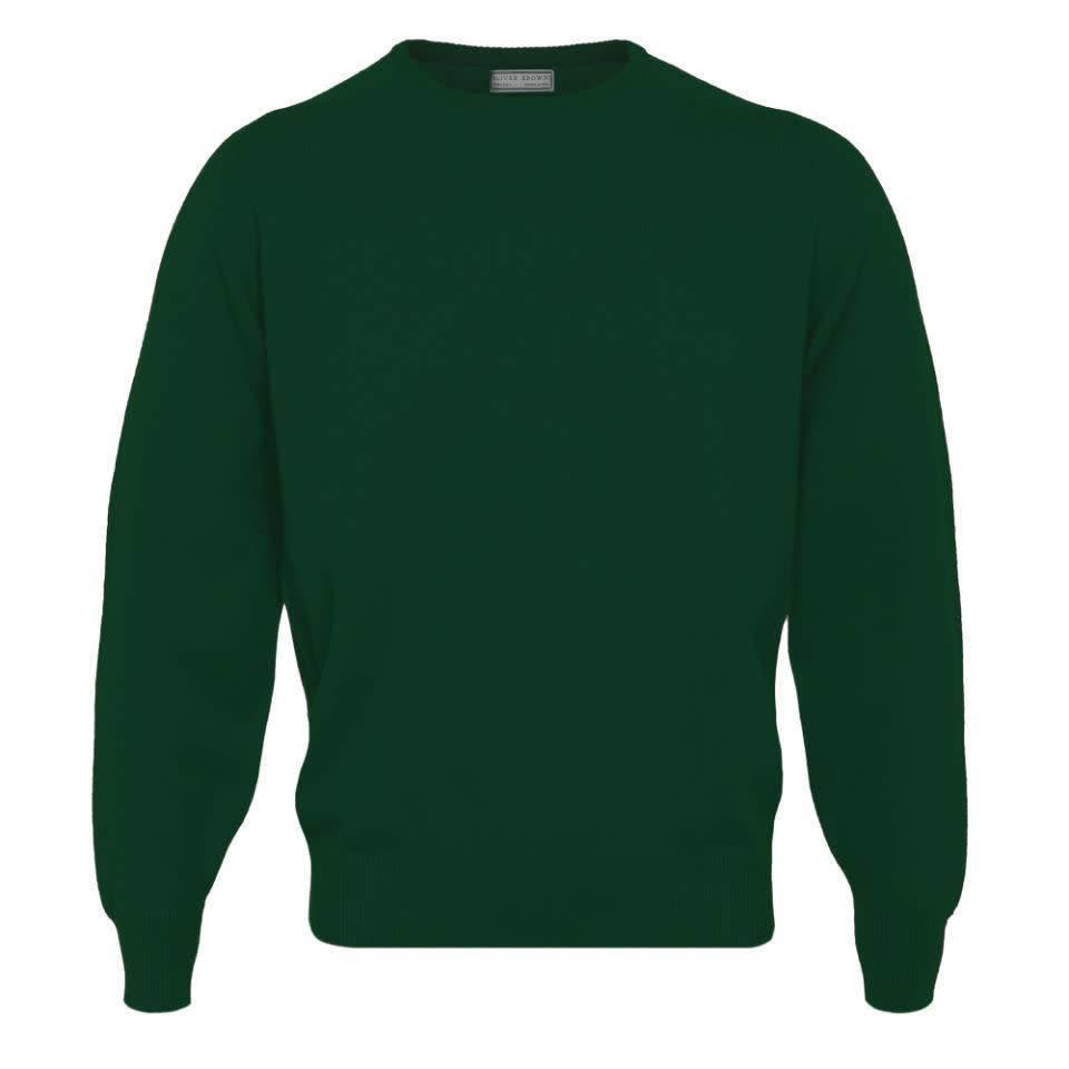 Merino Crew Neck Jumper - Hunter