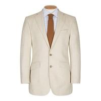 Un-Lined Herringbone Jacket - Cream