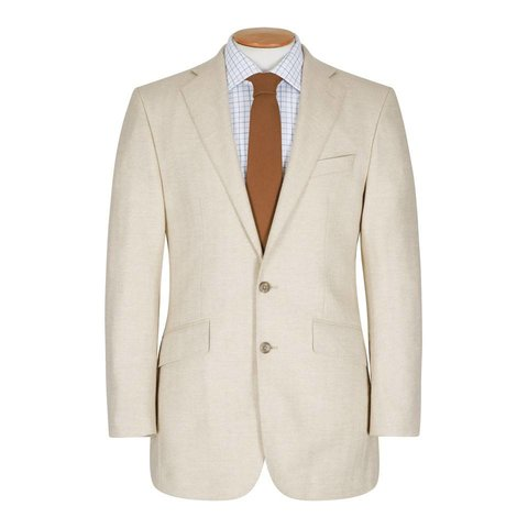 Sydney Jacket - Cream Herringbone