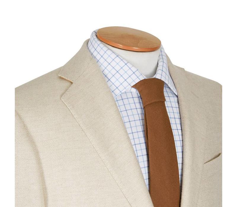 Sydney Jacket - Cream Herringbone