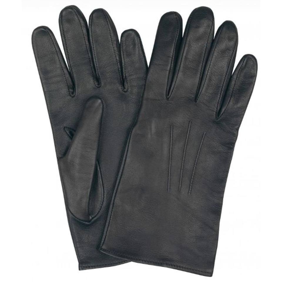 Mens Leather Gloves - Black