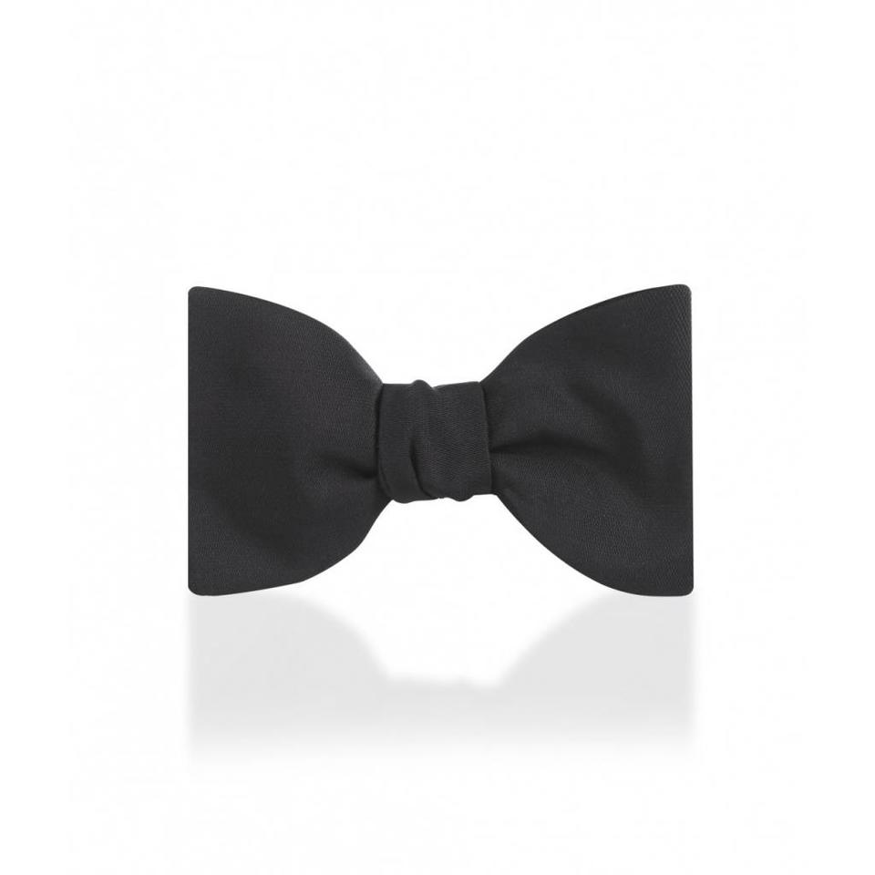Silk Barathea Bow Tie, Self Tie
