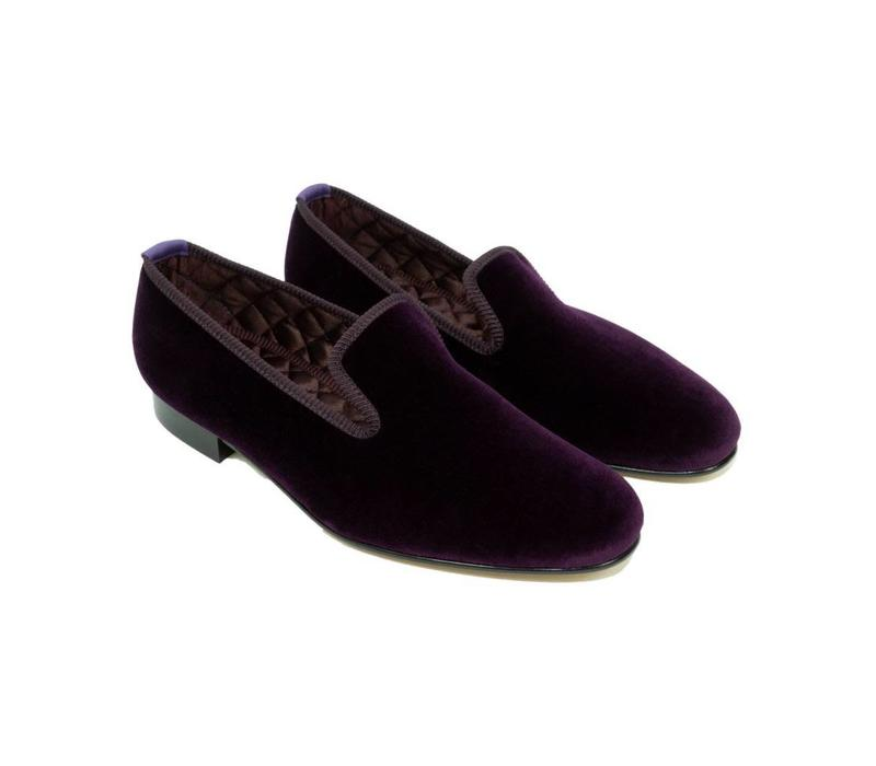 Embroidered Velvet Slippers - Regal