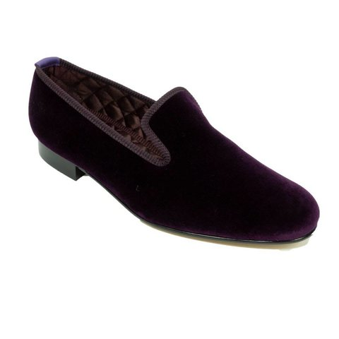 Monogrammed Velvet Slippers - Regal