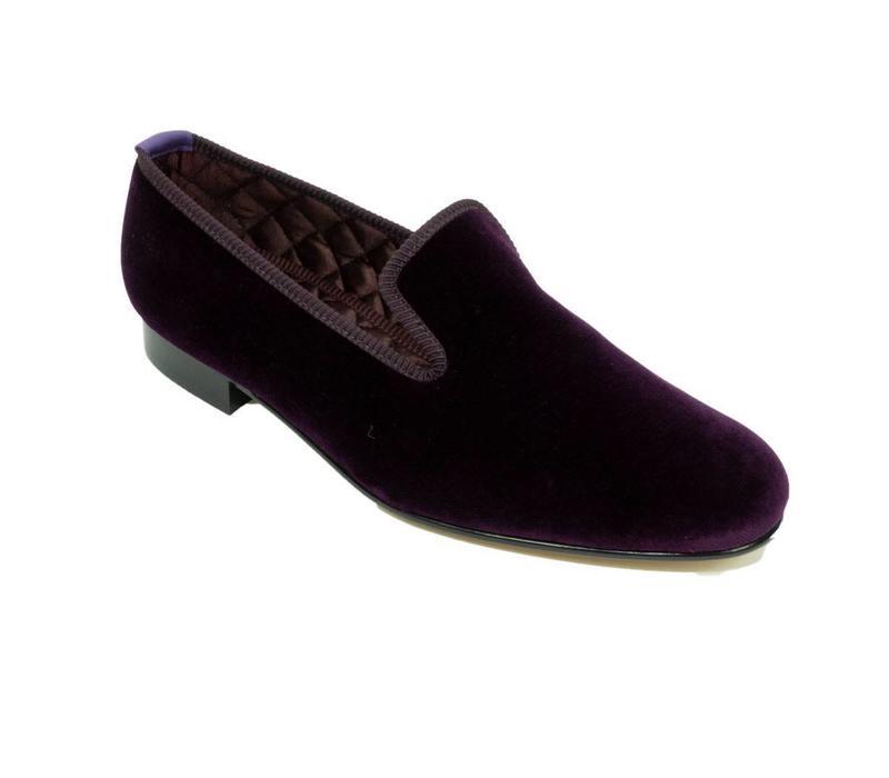 Monogrammed Velvet Slippers - Regal