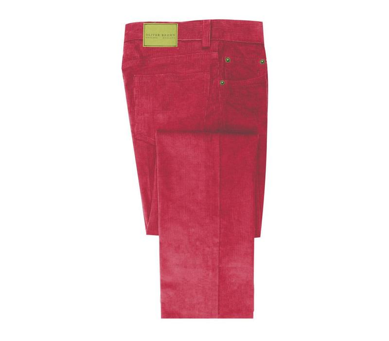 Needlecord Jeans - Red
