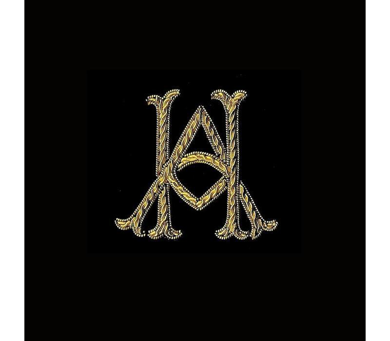 Monogrammed Velvet Slippers - Navy