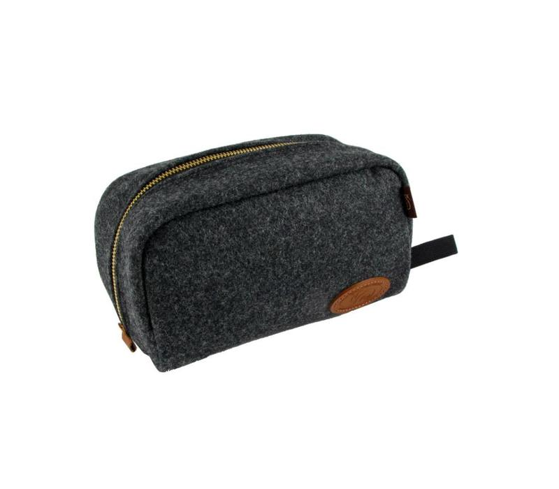 Chapman Wash Bag - Grey Tweed