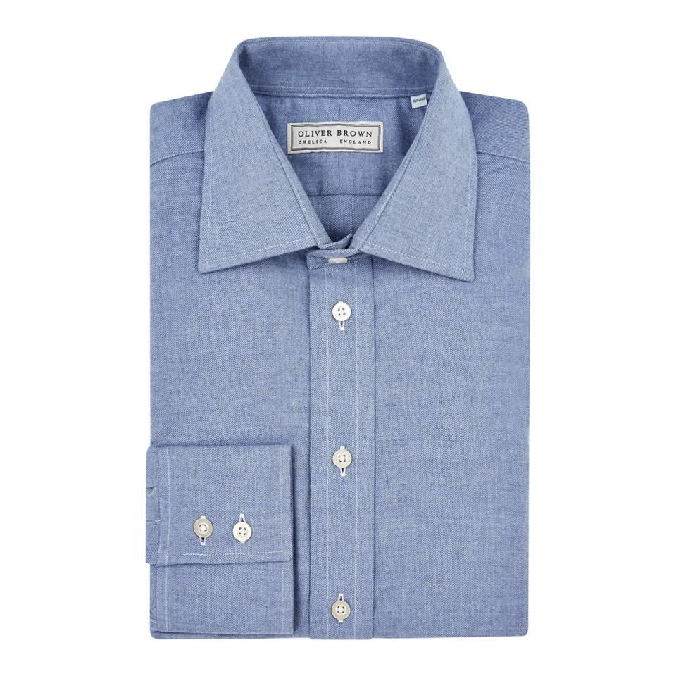 Brushed Cotton Shirt - Denim