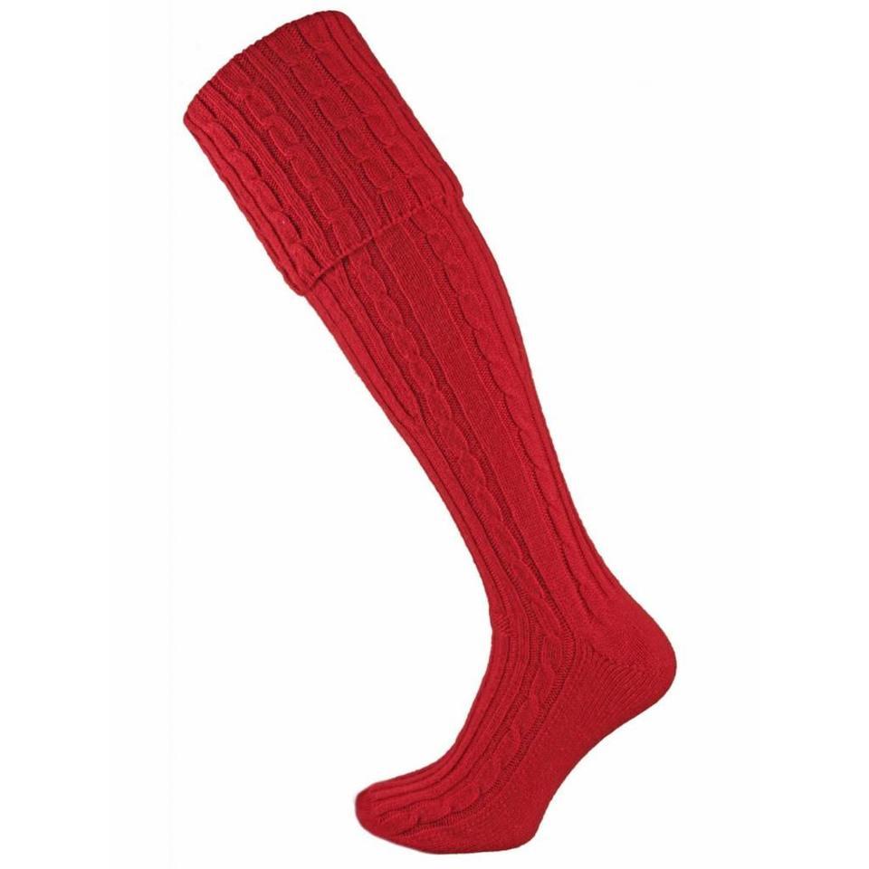 Skye Cashmere Shooting Sock - Cardinal