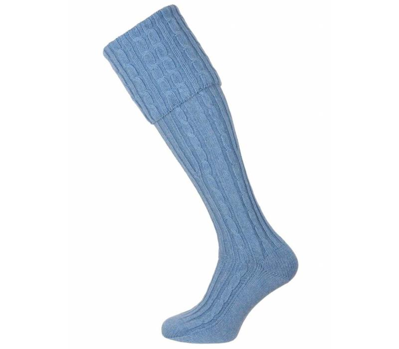 Skye Cashmere Shooting Socks - Pale Blue