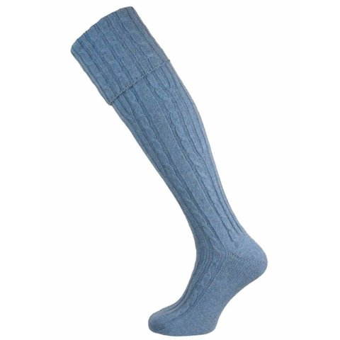 Skye Cashmere Shooting Sock - River Leven
