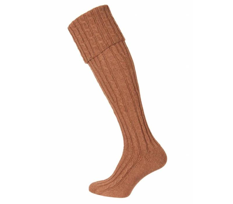 Skye Cashmere Shooting Sock - Cancan