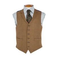 Single Breasted Tweed Waistcoat - TW4