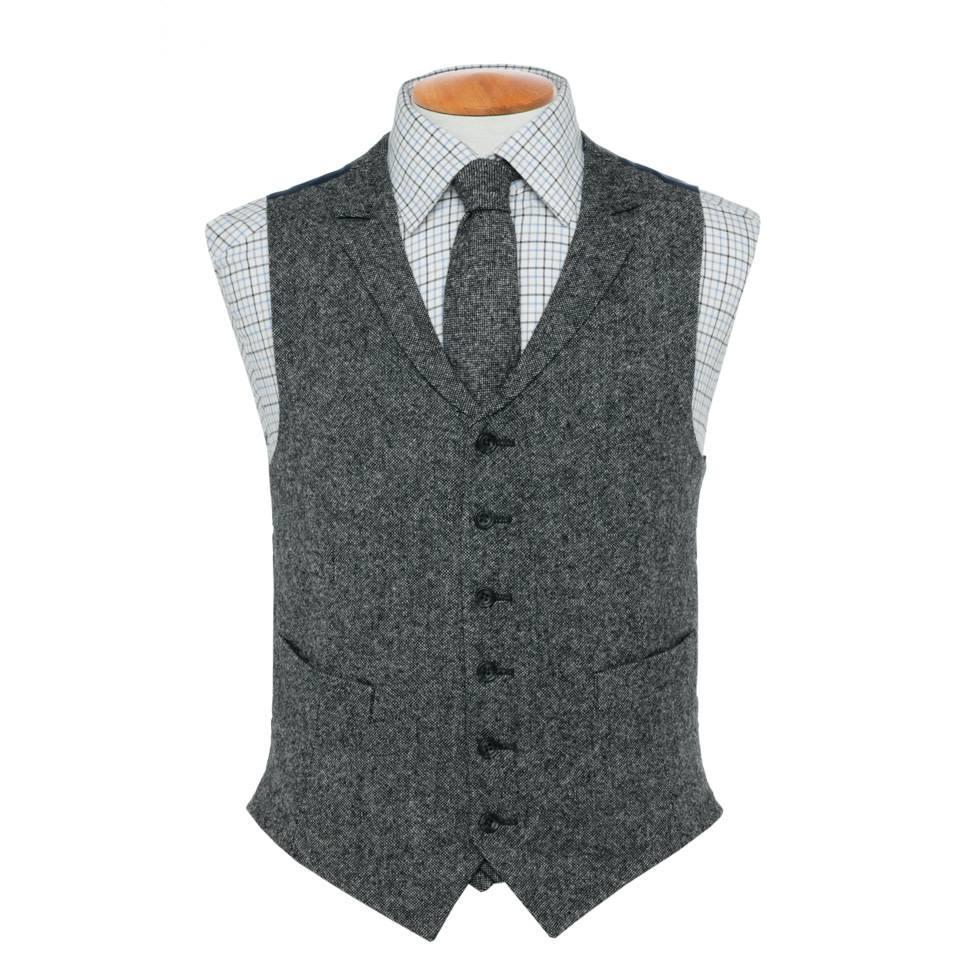 Single Breasted Tweed Waistcoat - TW5, 2016