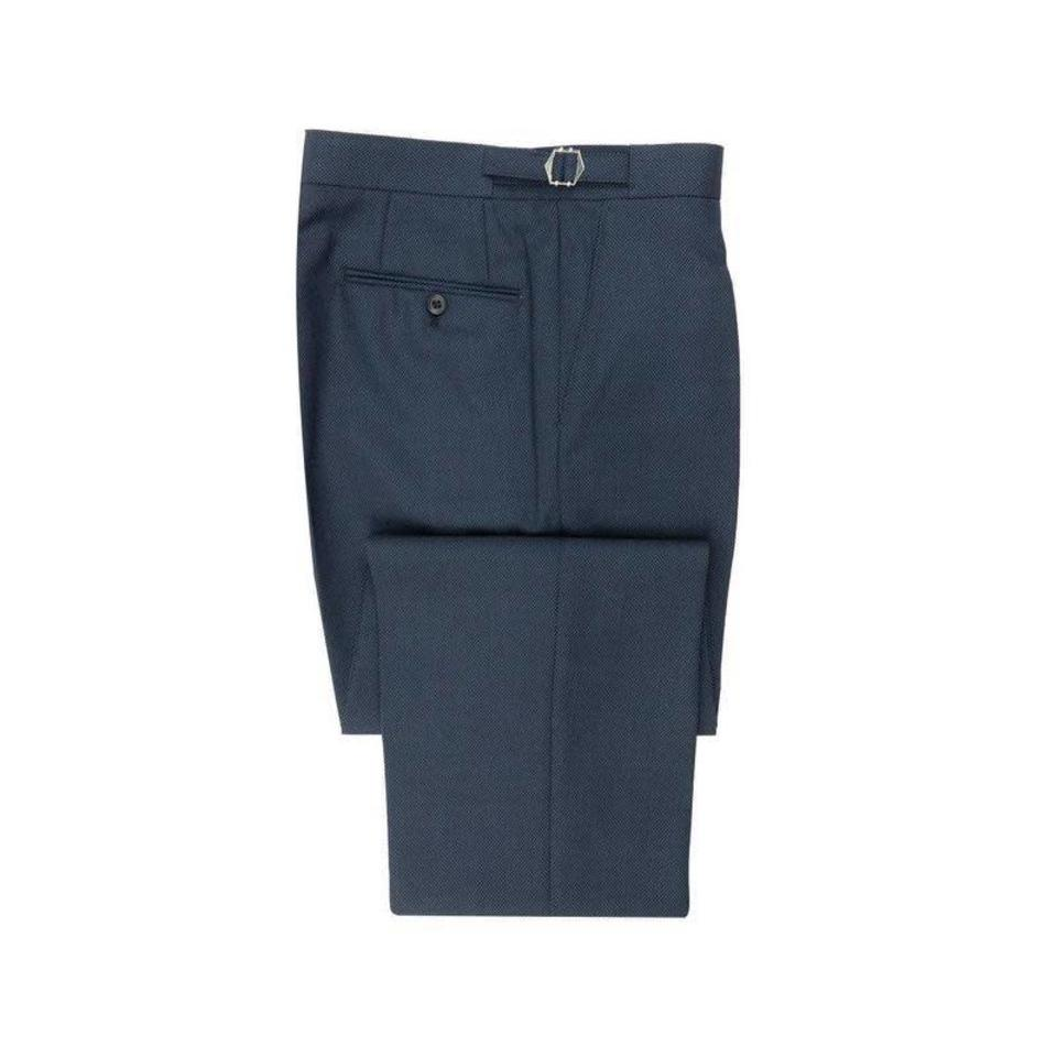 Birdseye Suit Trouser - Navy