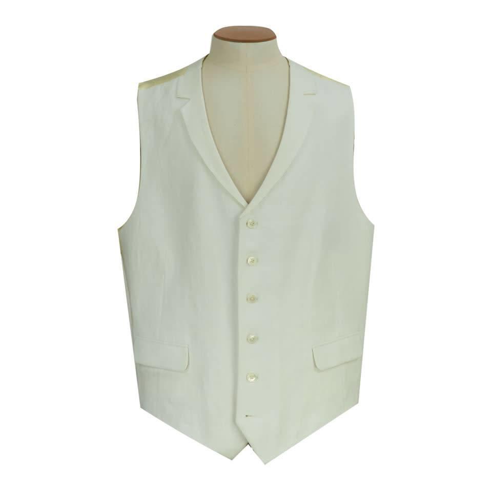 Clearance White Linen Waistcoat - 46LG