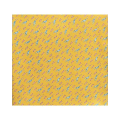 Silk Monkey Pocket Square - Yellow